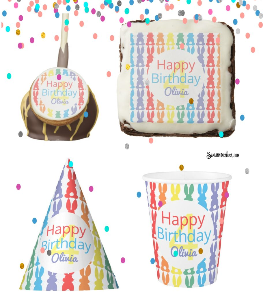 Kids Rainbow Bunny Birthday Party