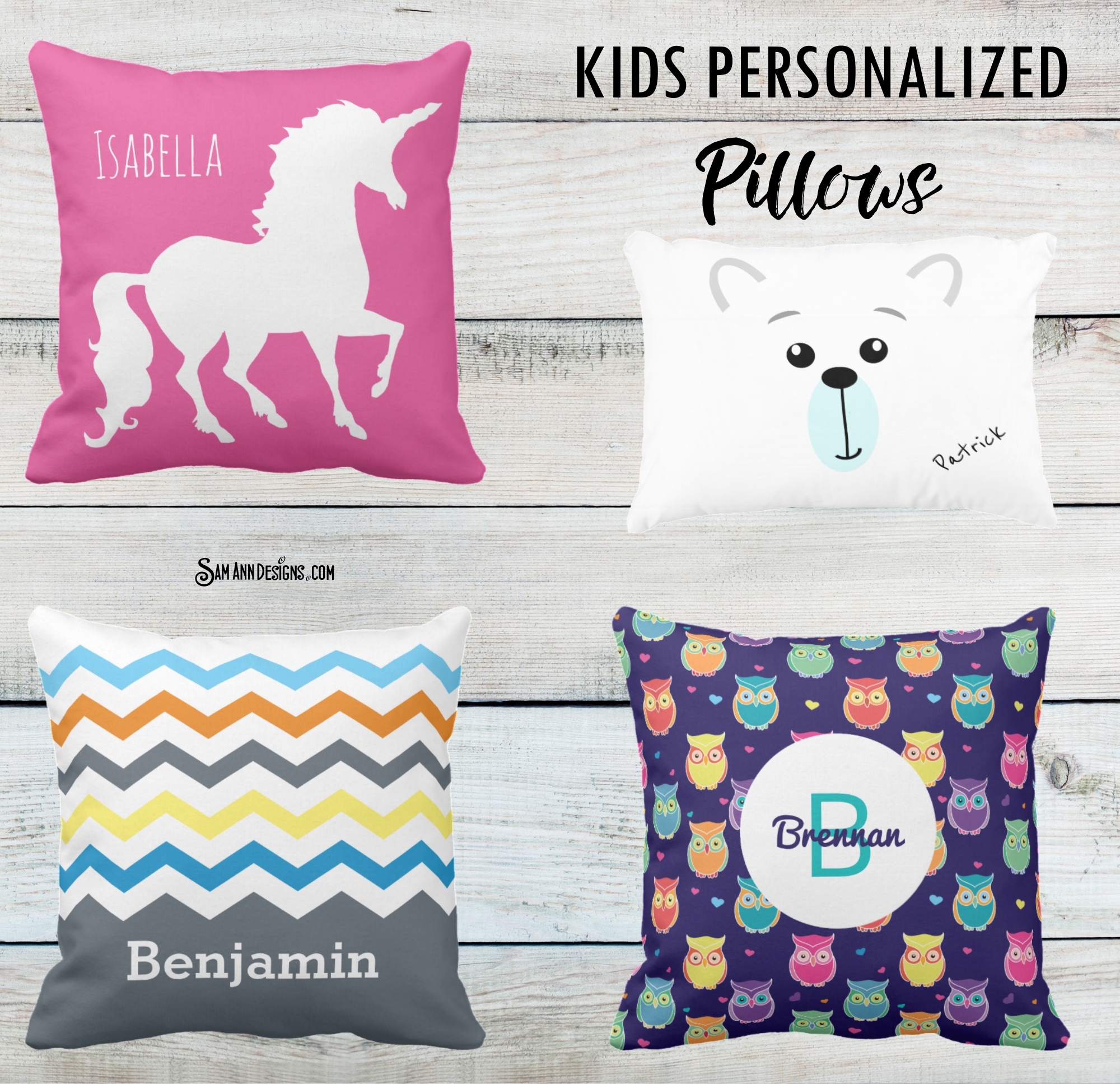 Kids Personalized Pillows