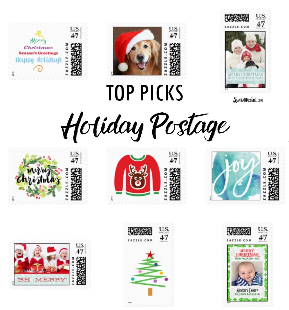 Unique Holiday Postage