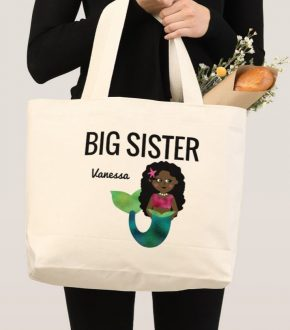 Big Sister Mermaid Tote