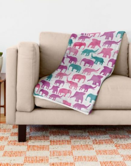 Society 6 Elephant Blanket