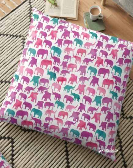 Redbubble Pillow Elephants