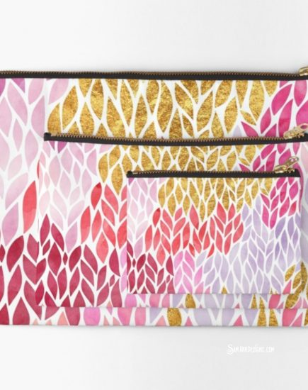 Redbubble Studio Pouch Gold Pink