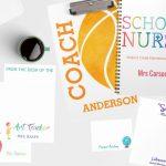 Personalized Teacher Stationery