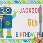 Kids Personalized Paper Placemats