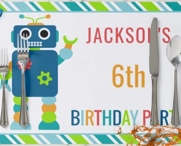 Personalized Party Paper Placemats