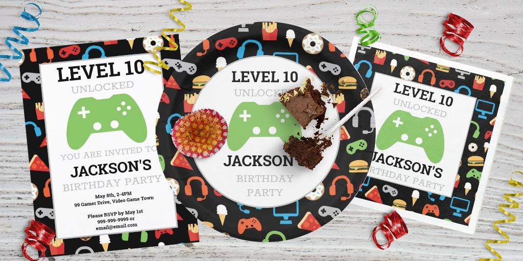 900b8dce6a228 Gamer Birthday Party - Sam Ann Designs